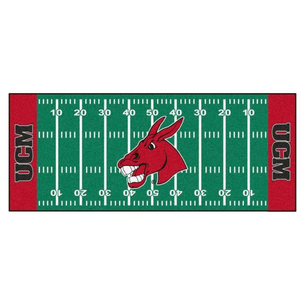 NCAA University of Central Missouri 2.5 ft. x 6 ft. Football Field Runner Rug
