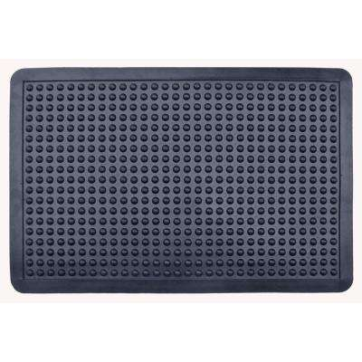 A1HC Glossy Bubbles Top 36 in. x 48 in. Cushion-Ease Anti Fatigue Rubber Mat