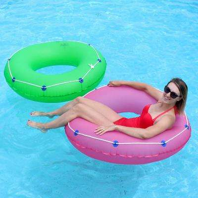 48 in. Pink and Green Swimming Pool Tube Combo (2-Pack)