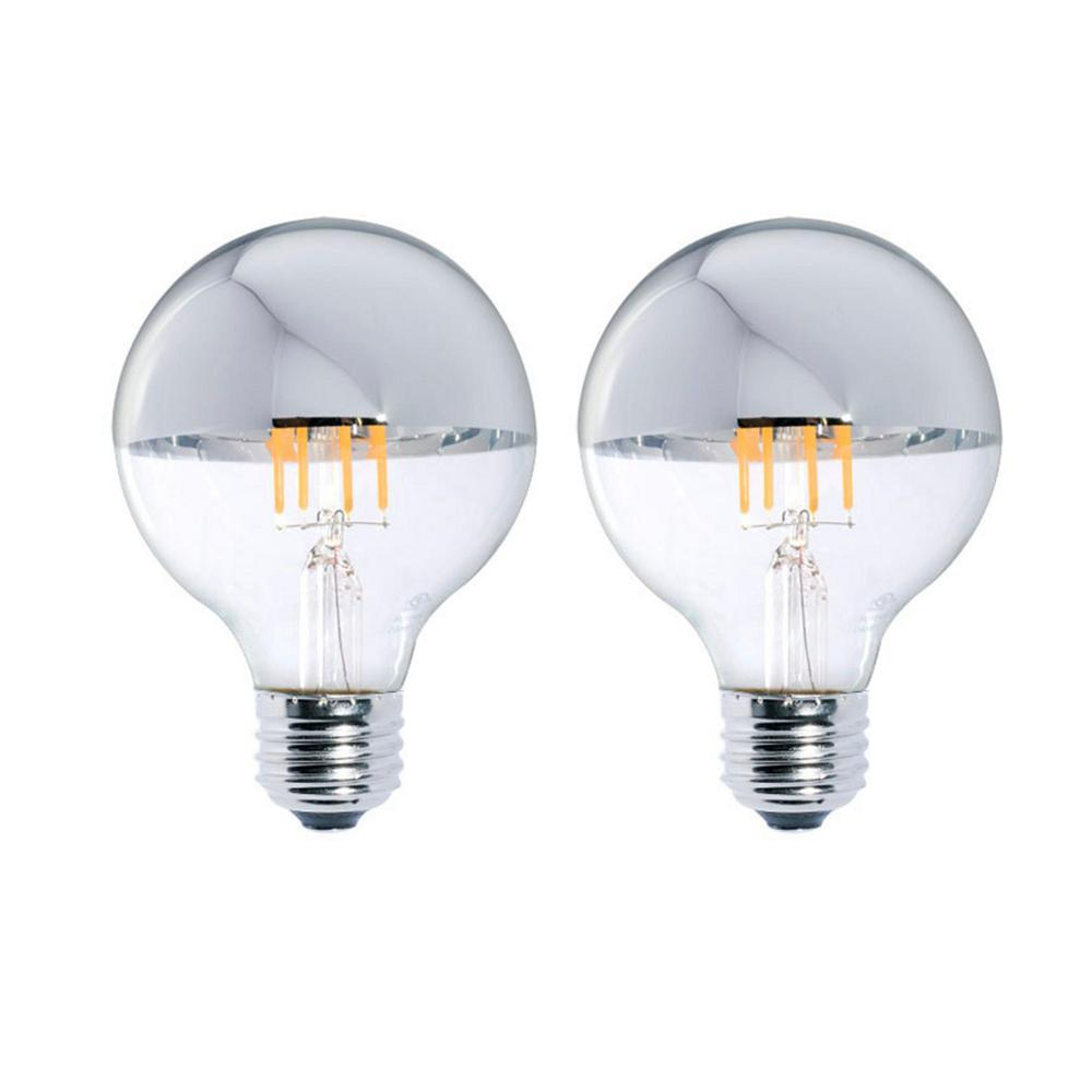 40W Equivalent Warm White Light G25 Dimmable LED Half Chrome Light