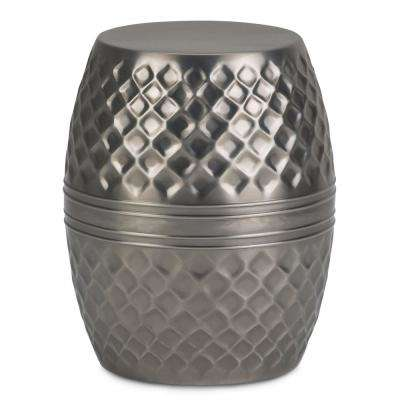 Ramey Contemporary Round 15 in. Wide Metal Accent Accent Side Table in Antique Silver