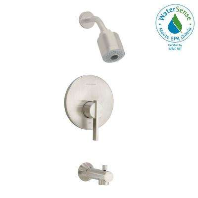 Berwick 1-Handle Tub and Shower Faucet Trim Kit in Brushed Nickel (Valve Sold Separately)