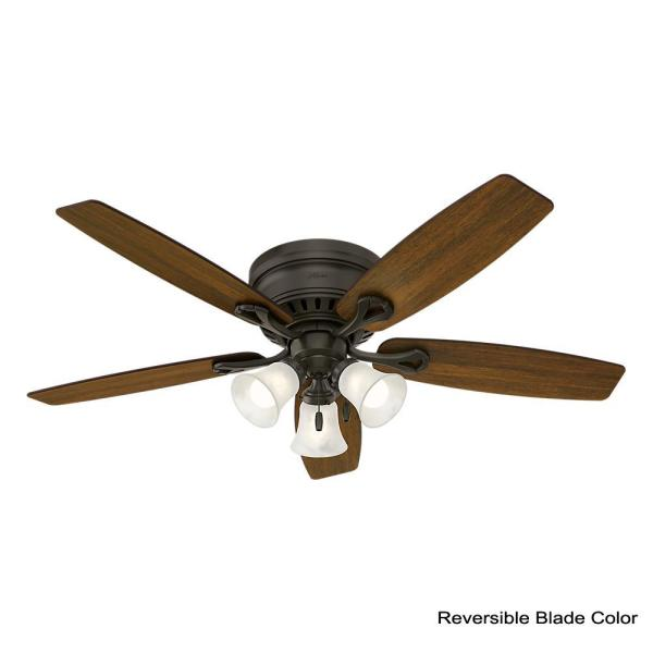 """52/"""" ORB oil rubbed bronze ceiling fan with 4 light tea stain glass BX"""