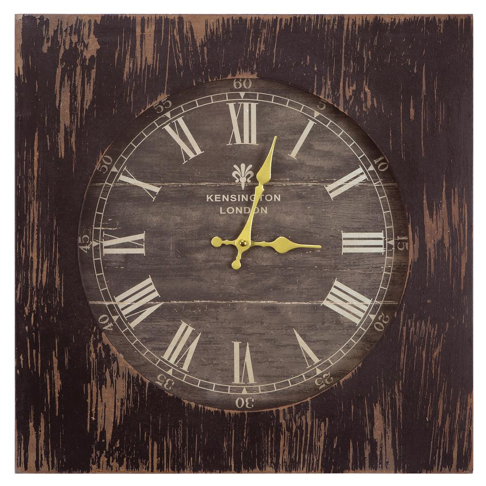 Yosemite Home Decor 19 In Square Mdf Wall Clock In