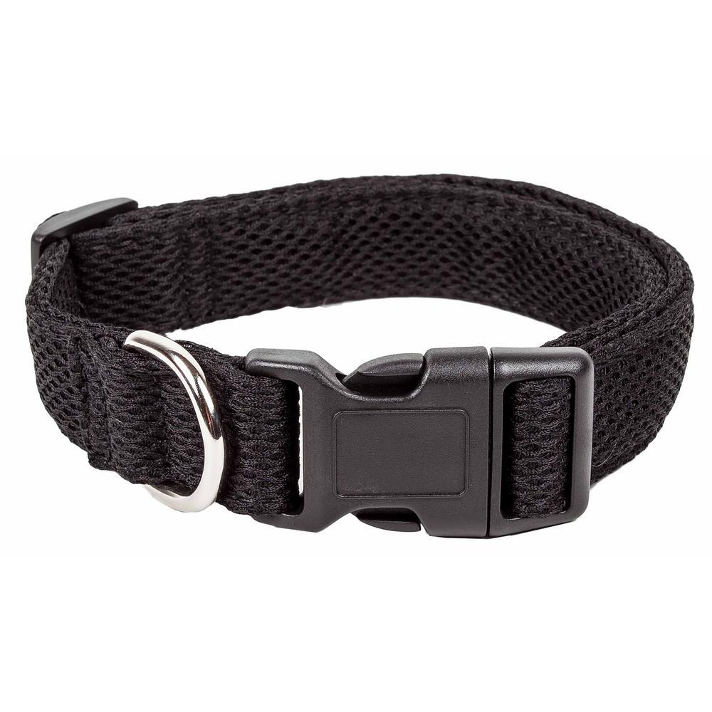 Aero Mesh 360-Degree Breathable Adjustable Mesh Dog Collar, Medium, Black