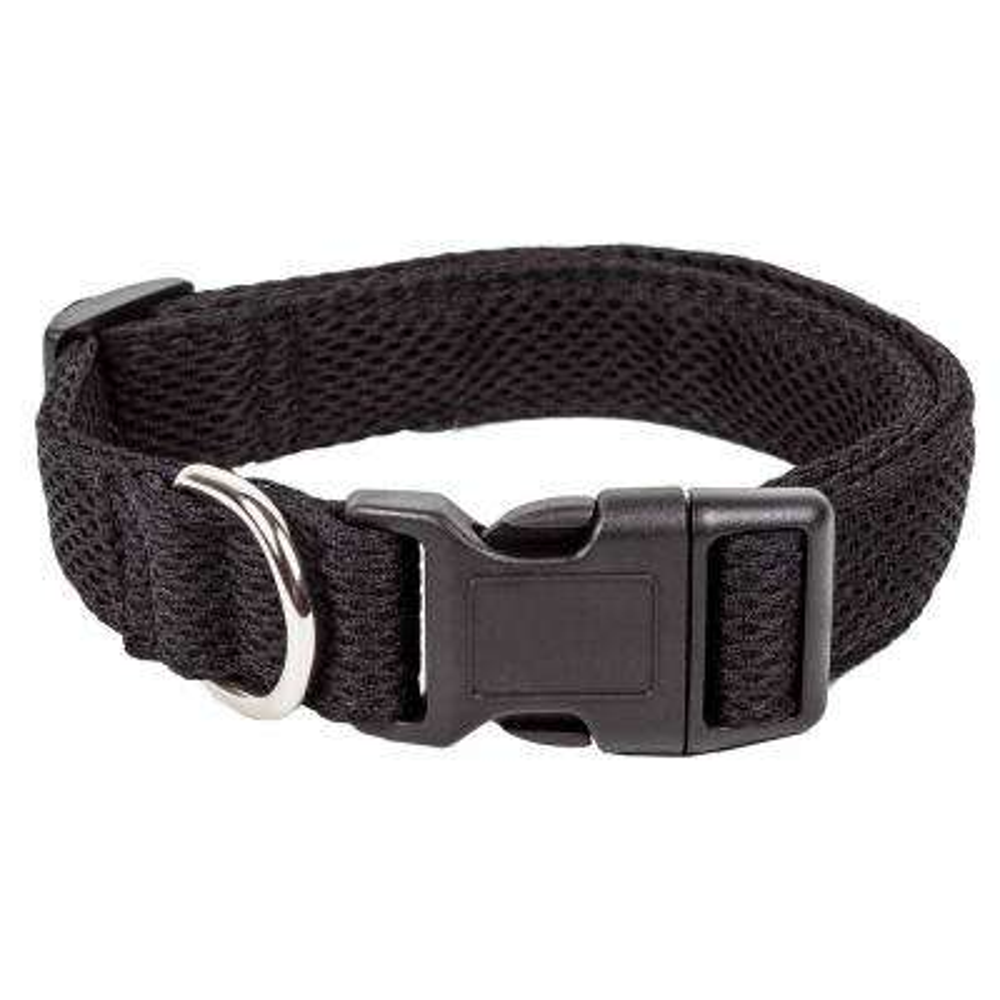 Aero Mesh 360-Degree Breathable Adjustable Mesh Dog Collar, Small, Black