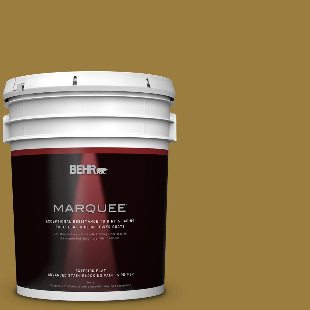 BEHR MARQUEE 5-gal. #S-H-380 Burnished Bronze Flat Exterior Paint