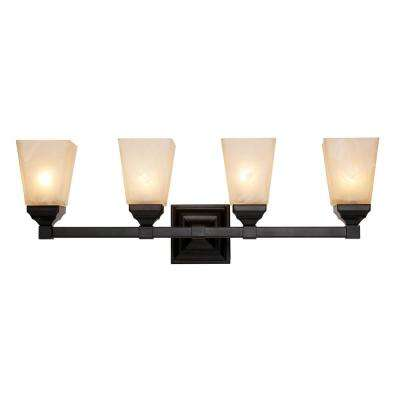 Val Verde 4-Light Black Bath Light