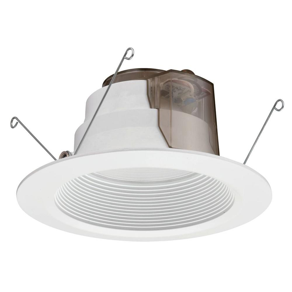 Lithonia lighting 6 in matte white recessed led high lumen lithonia lighting 6 in matte white recessed led high lumen downlighting module aloadofball Image collections
