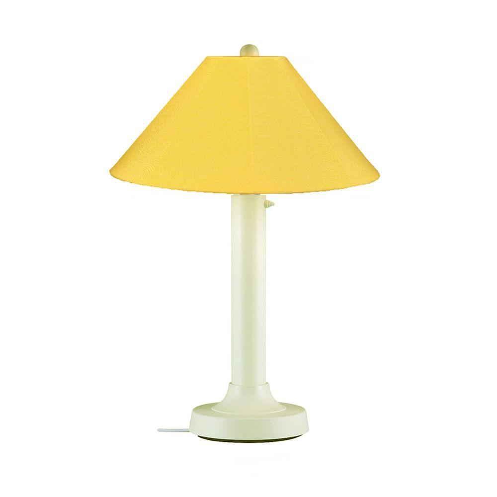Patio Living Concepts Catalina 34 in. Bisque Outdoor Table Lamp with Buttercup Shade