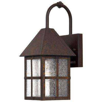Townsend 1-Light Rust Outdoor Wall Mount Lantern