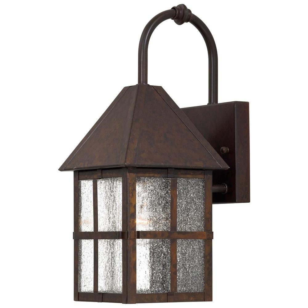 Townsend 1-Light Rust Outdoor Wall Mount Lantern