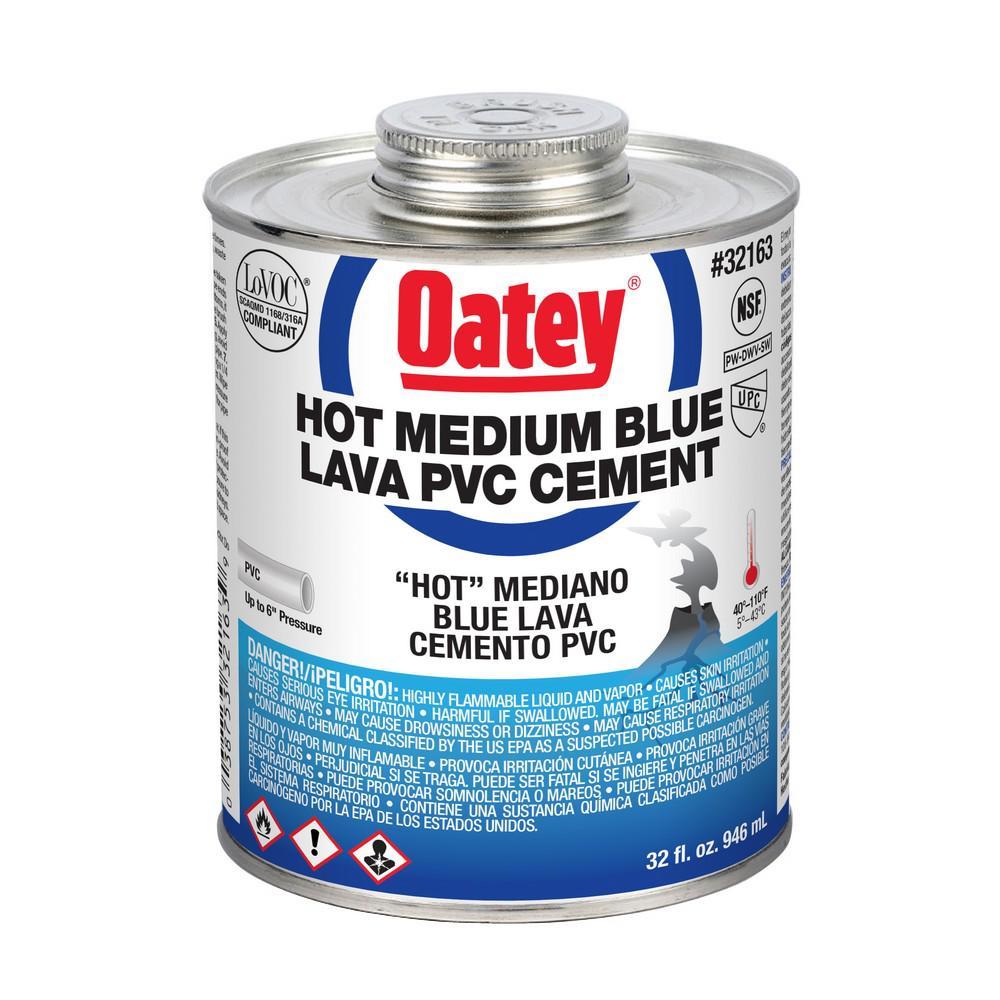 32 oz. PVC Blue Lava Hot Cement