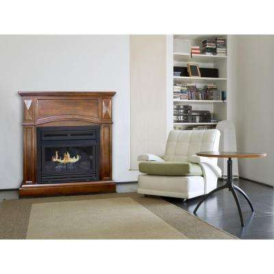 35 in. Convertible Vent-Free Dual Fuel Fireplace in Cherry
