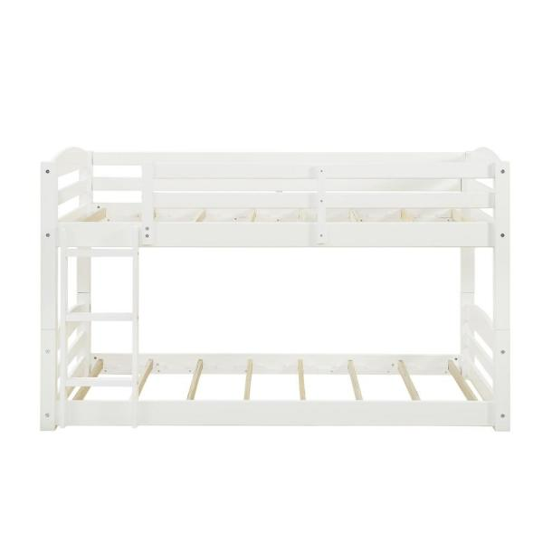 Dorel Living Noma White Twin Over Bunk Bed FH7891W