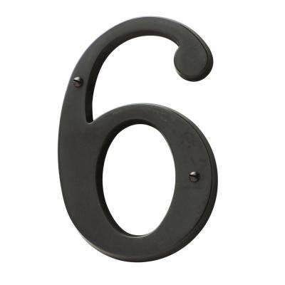 5 in. Oil-Rubbed Bronze House Number 6