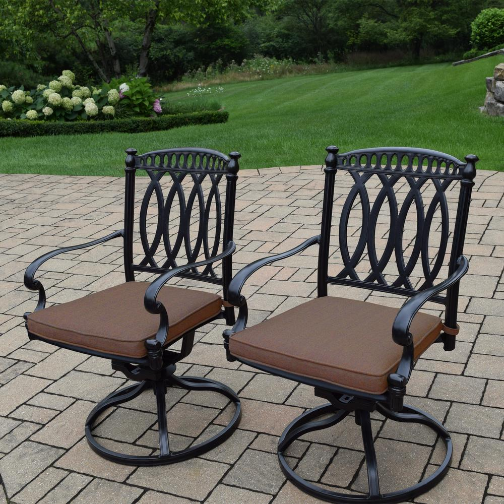 hampton bay spring haven brown all weather wicker outdoor patio swivel rocking chair with sky. Black Bedroom Furniture Sets. Home Design Ideas