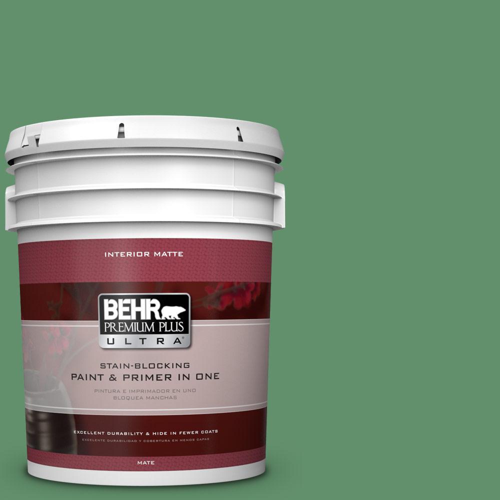 BEHR Premium Plus Ultra 5 gal. #460D-6 Manchester Flat/Matte Interior Paint