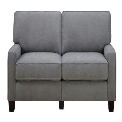 RTA Martinique Kona Gray/Espresso Polyester Sofa