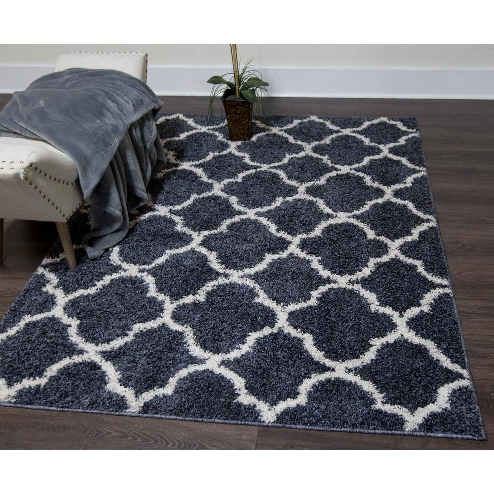 Nicole Miller Synergy Blueoff White 8 Ft X 10 Ft Indoor Area Rug