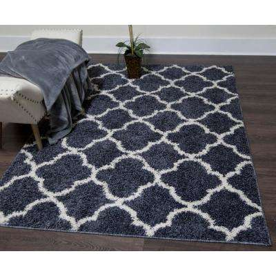Synergy Blue/White 8 ft. x 10 ft. Indoor Area Rug