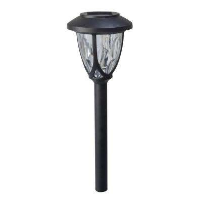 Meredith-Style Solar Powered 1.2-Lumen Black Outdoor Integrated LED Landscape Path Light (4-Pack)