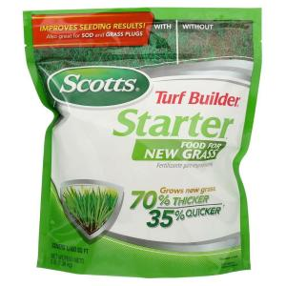 Scotts Turf Builder 1 000 Sq Ft Starter Brand Fertilizer
