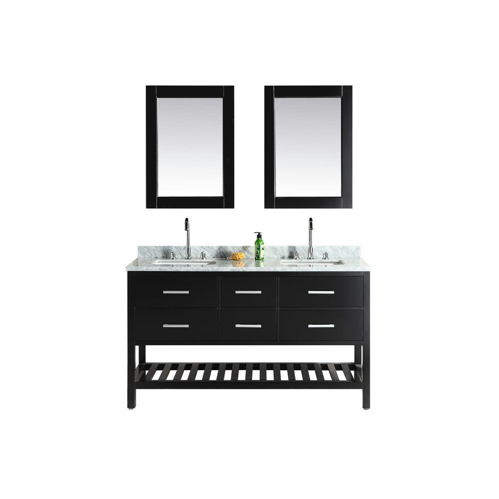 London 61 in. W x 22 in. D Double Vanity in