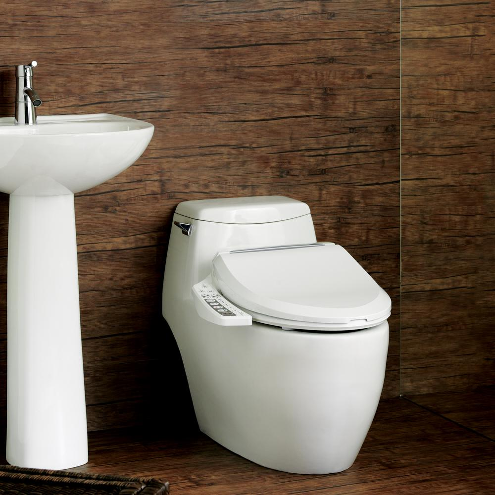 Biobidet Ultimate Electric Bidet Seat For Round Toilets In White Bb 600r The Home Depot