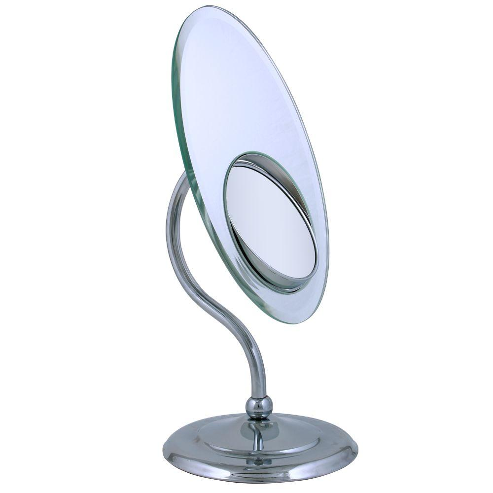 Zadro Tri Optics Oval Vanity Makeup Mirror in Chrome