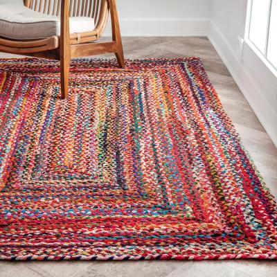 Tammara Colorful Braided Multi 5 ft. x 8 ft. Area Rug