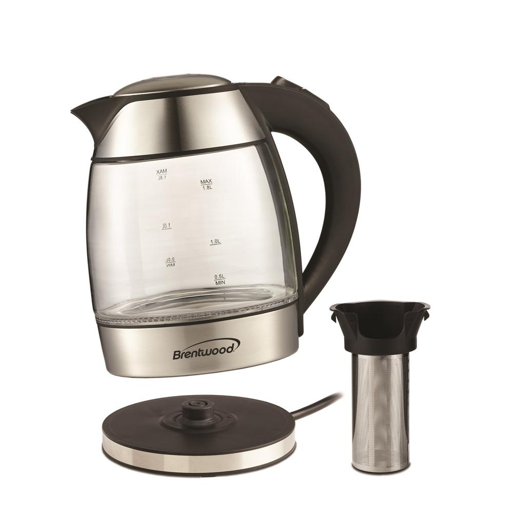 Electric Tea Kettle ~ Brentwood cordless glass electric tea kettle kt bk