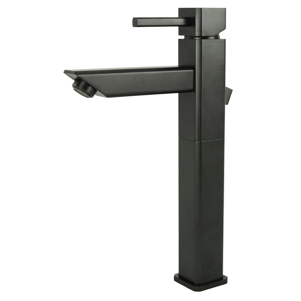 Italia Torre Quadrata Single Hole 1-Handle Bathroom Vessel Faucet in Oil Rubbed Bronze