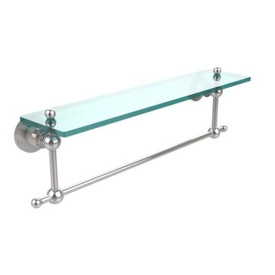 Allied Brass Astor Place 22 In L X 4 In H X 5 In W Clear Glass Vanity Bathroom Shelf With Towel Bar In Polished Chrome Ap 1tb 22 Pc The Home Depot