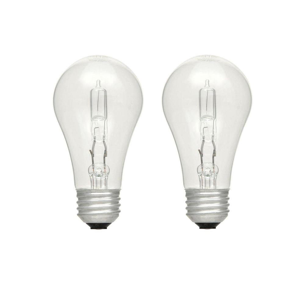 40-Watt Equivalent A19 Dimmable Clear Eco-Incandescent Light Bulb Soft White