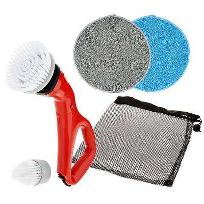 Multi-Purpose Compact Power Scrub Brush in Red