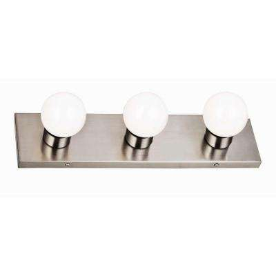 3-Light Satin Nickel Vanity Light