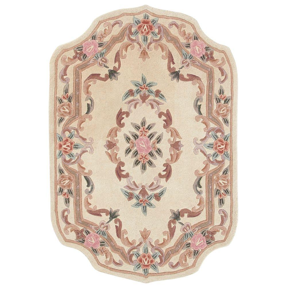 Home Decorators Collection Imperial Ivory 4 ft. x 6 ft. Shape Area Rug