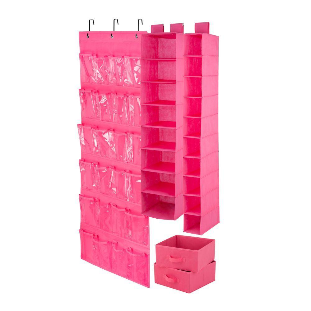 Great Honey Can Do 4 Piece Pink Closet Organization Set