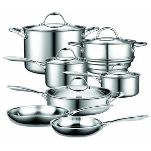 Click here to buy Cooks Standard 12-Piece Silver Cookware Set with Lids by Cooks Standard.