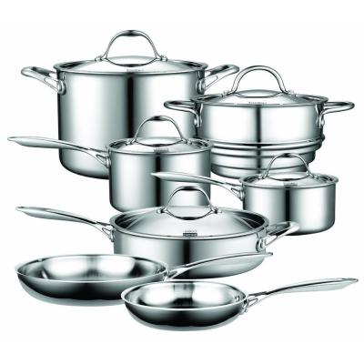 12-Piece Silver Cookware Set with Lids