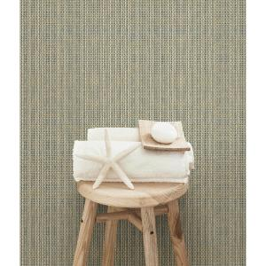Chesapeake Kent Taupe Faux Grasscloth Wallpaper by