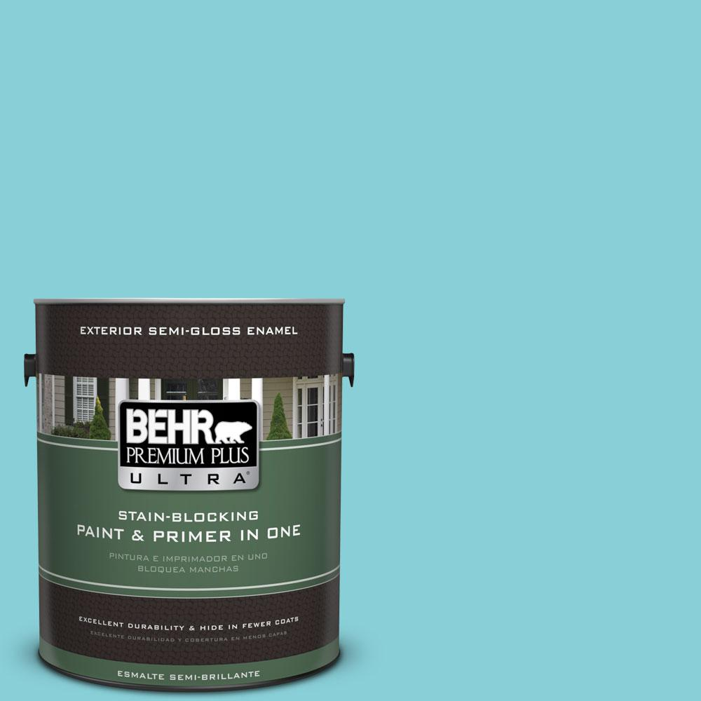 BEHR Premium Plus Ultra Home Decorators Collection 1-gal. #HDC-MD-14 Sky Watch Semi-Gloss Enamel Exterior Paint