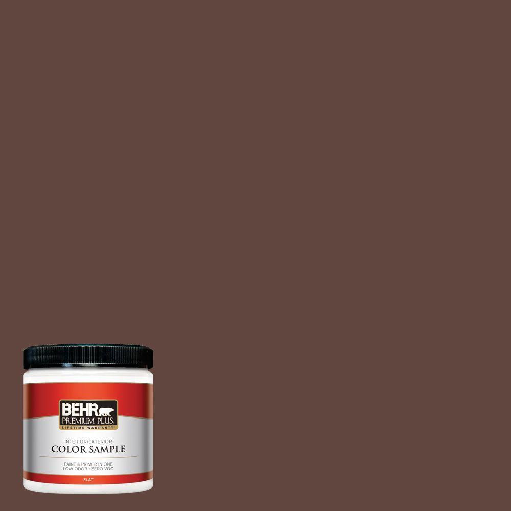8 oz. #180F-7 Warm Brownie Interior/Exterior Paint Sample