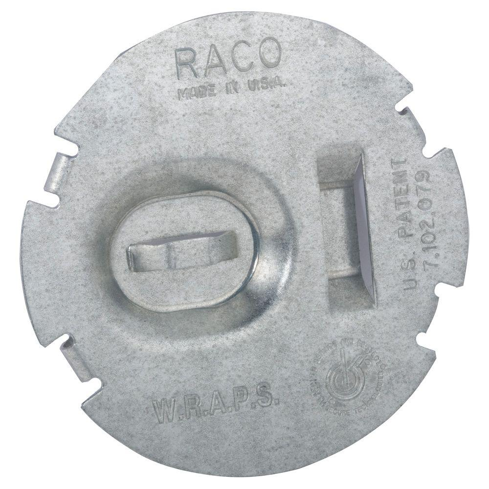 RACO Flat Round Wire Protection Plate (50-Pack)-700F - The Home Depot
