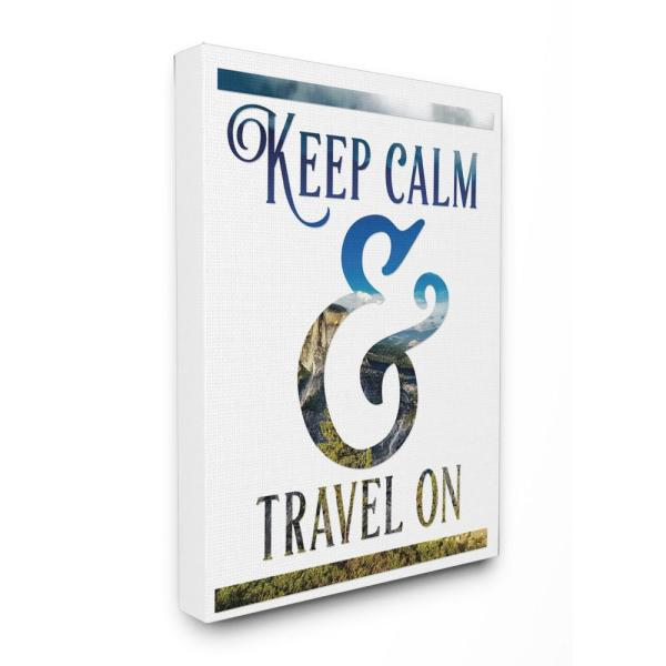 Stupell Industries 24 in. x 30 in. ''Keep Calm and Travel