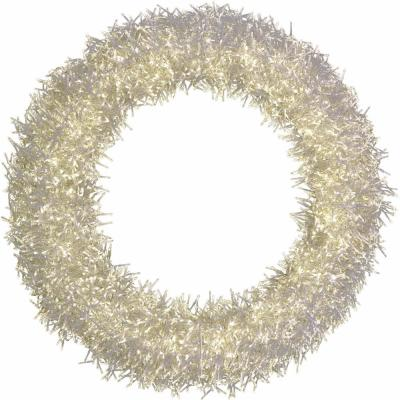 36 in. Pre-Lit Artificial Christmas Wreath with Special Lighting Effects