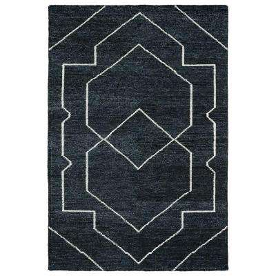 Solitaire Charcoal 4 ft. x 6 ft. Area Rug