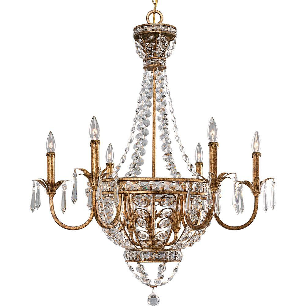 Progress Lighting Palais Collection 9-Light Imperial Gold Chandelier