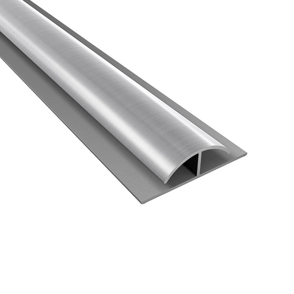 null 4 ft. Large Profile Brushed Aluminum Divider Trim